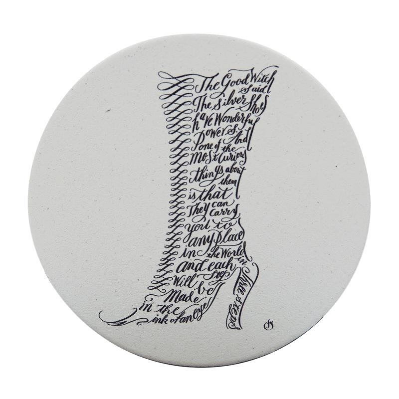 天然素材 珪藻土 日本製コースター ペア コースター テディベア・魔法の靴
