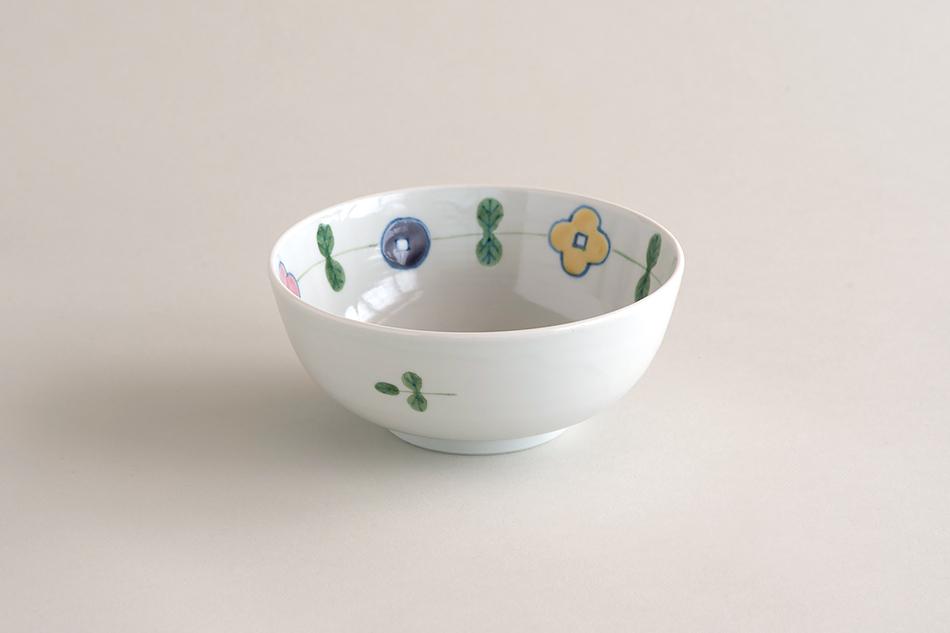 【お一人様2個まで】色絵幸せ花繋ぎ 4.5寸鉢(徳永遊心)