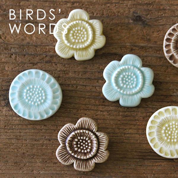 フラワータイルブローチ(BIRDS' WORDS/バーズワーズ)