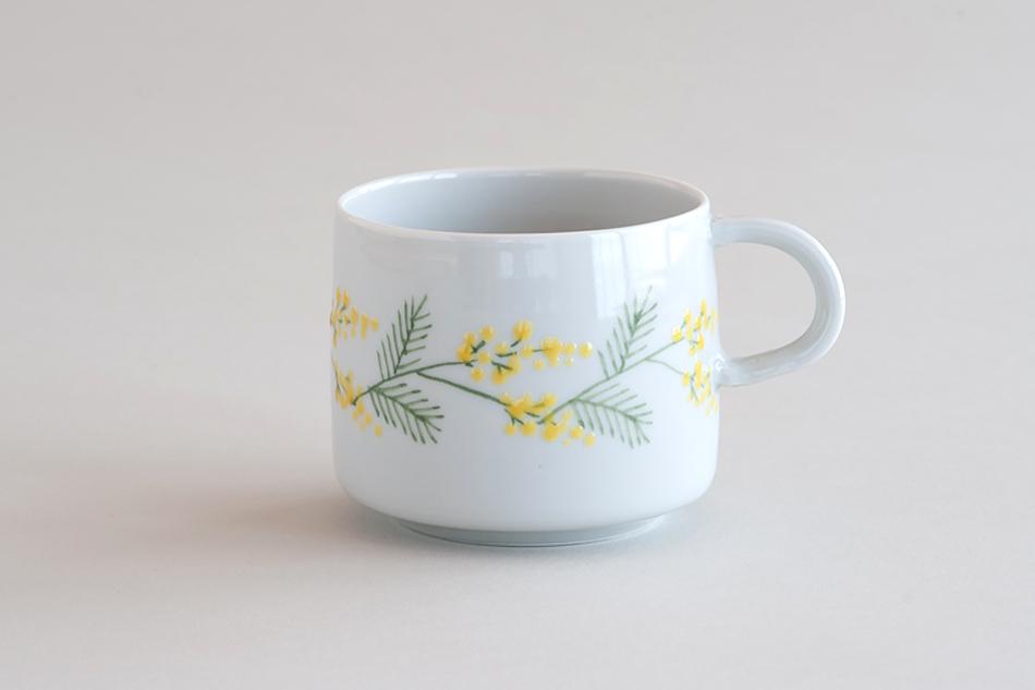 【お一人様2個まで】ミモザ マグカップ(徳永遊心)