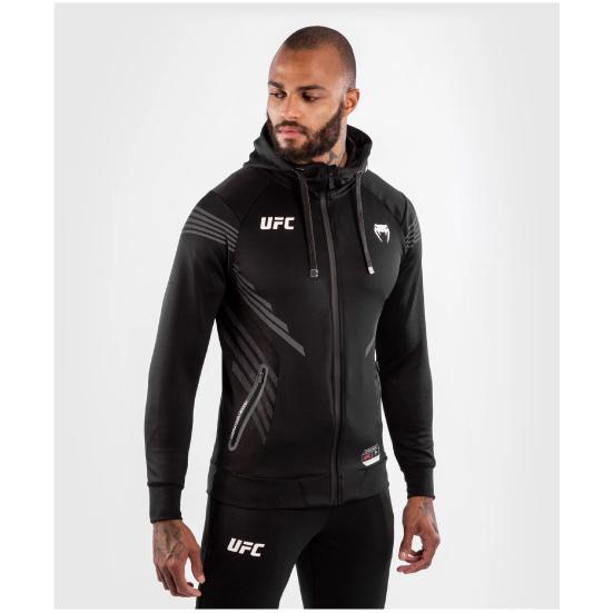 VENUM ヴェナム UFC VENUM Authentic Fight Night メンズウォークアウトパーカー - 黒 BLACK ベナム VNMUFC-00004-001
