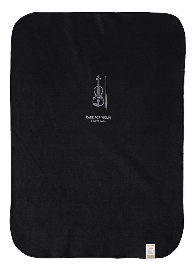 CUTIS 楽器専用ポリッシュ ファイバークロス ブラック ご自分の楽器デザインを選んでください。