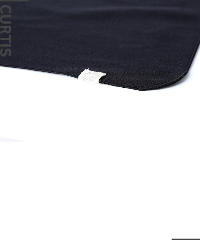 CUTIS 楽器専用ポリッシュ ファイバークロス ブラック ご自分の楽器デザインを選んでください。 FB