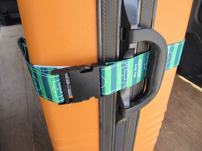 Music Office LUGGAGE BELT サッカーグラウンド柄 スーツケースベルト 旅行カバンベルト+ネームタグ