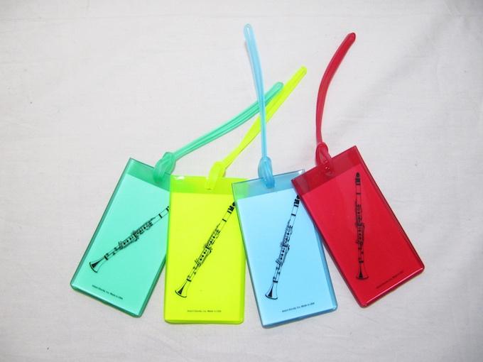旅行カバン用ネームタグ クラリネット Music ID Bag Tag CLARINET
