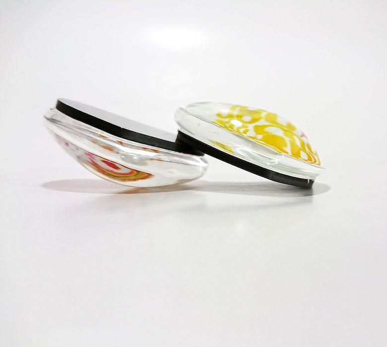 ハート型 ガラスのマグネット 1セット4個入り