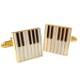 カフスボタン ピアノ柄 Keyboard cufflinks