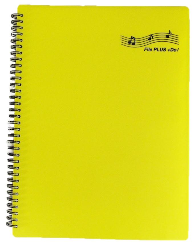 6カラー揃いました。楽譜ファイル File PLUS +Do 書込みOK リング式 60ページ(A4サイズ30ポケット)