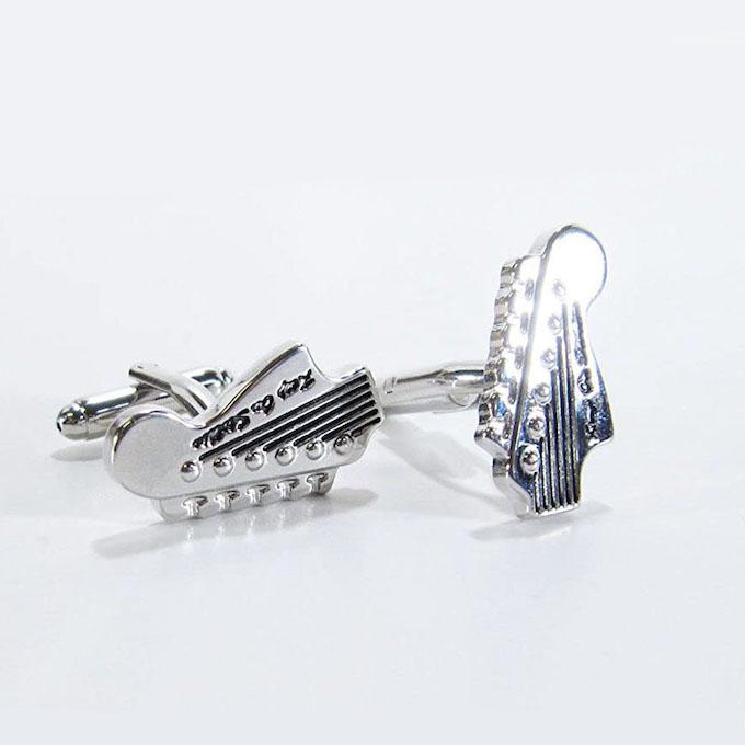 カフスボタン cufflinks エレキギター ヘッド