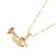 ネックレス トランペット GOLD TRUMPET NECKLACE W/AMBER CRYSTAL