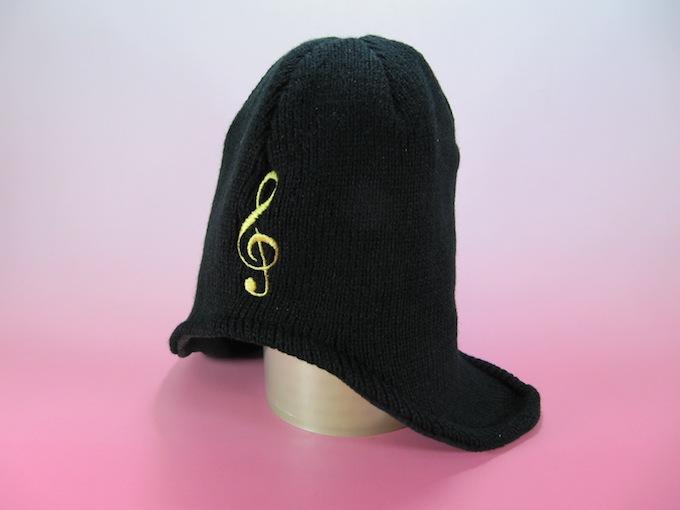 ビーニー帽 ト音記号 耳当て付きビーニー帽子