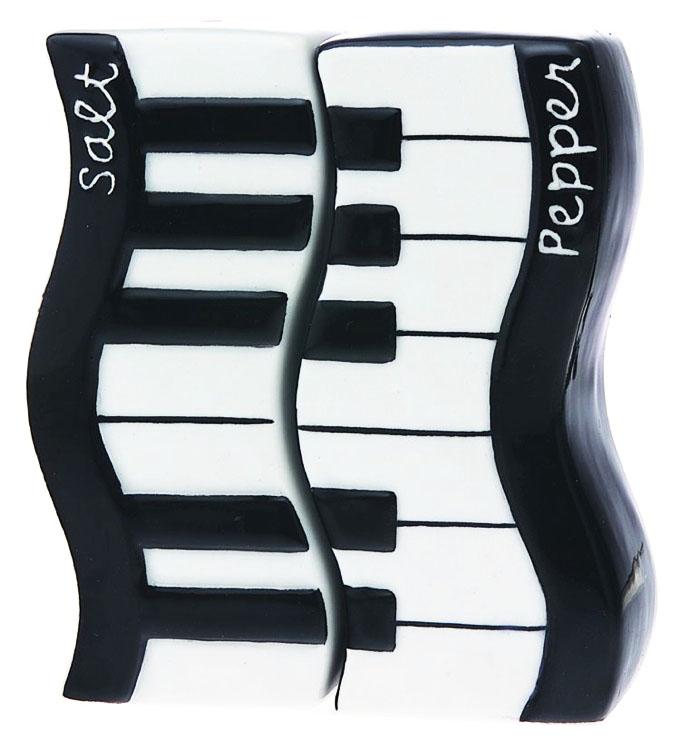 ピアノ柄 塩コショウ入れ2ピースセット