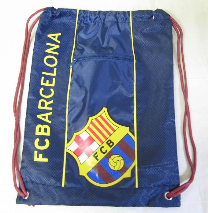 GYM SACK ナップサック FCB BARCELONA バルセロナ 小物入れジッパー付き OFFICIAL オフィシャル