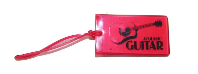 旅行カバン用ネームタグ ギター Music ID Bag Tag GUITAR