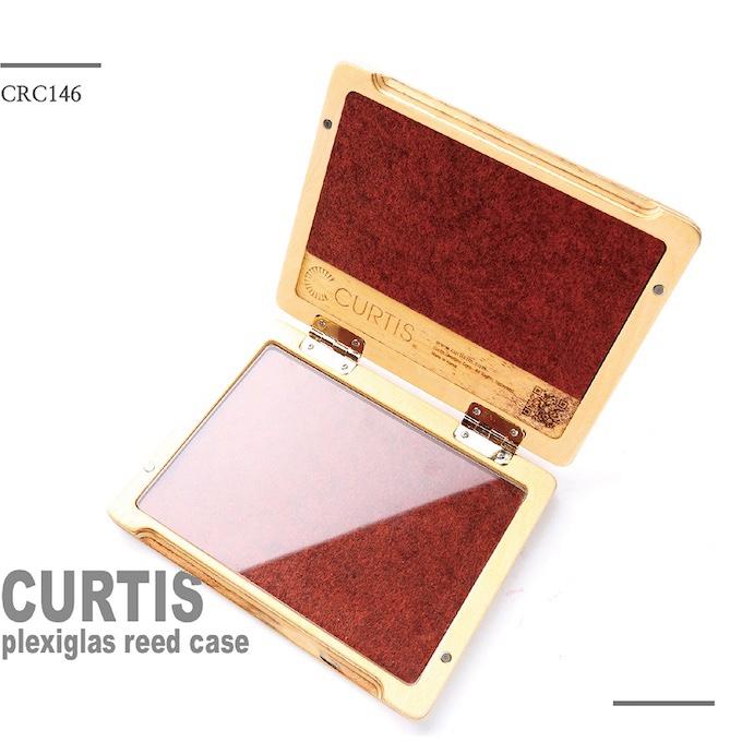 CURTIS リードケース プレクシグラス Plexiglas クラリネット、サックス用(ブラウン)