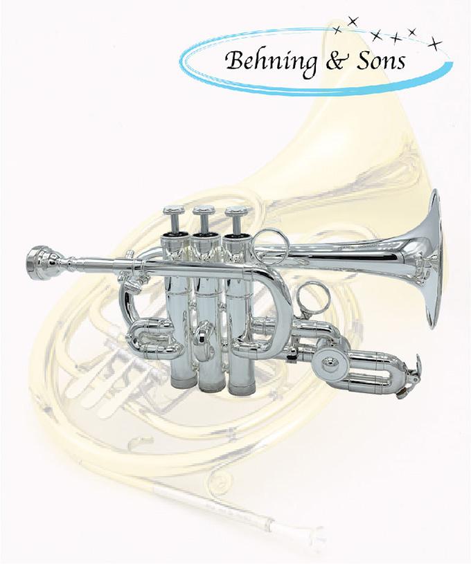 Behning & Sons 3ピストンピッコロトランペット FB
