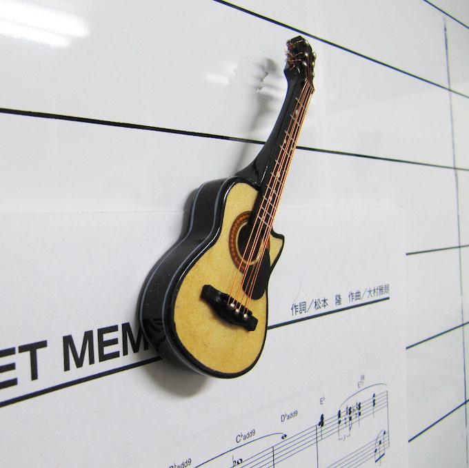 フォークギター ミニチュア楽器 3Dマグネット