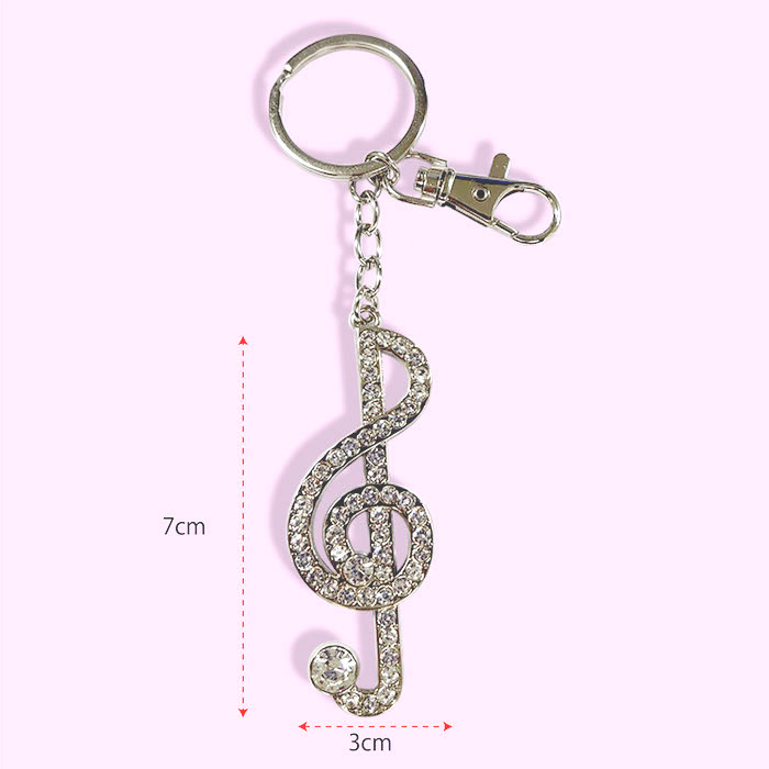 ミュージック キーホルダー ピアノ バイオリン ト音記号 16分音符