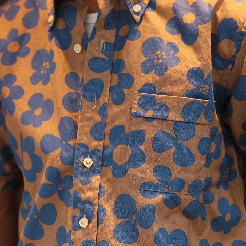 Che-st(チェスト) 半袖 ボタンダウンシャツ花柄
