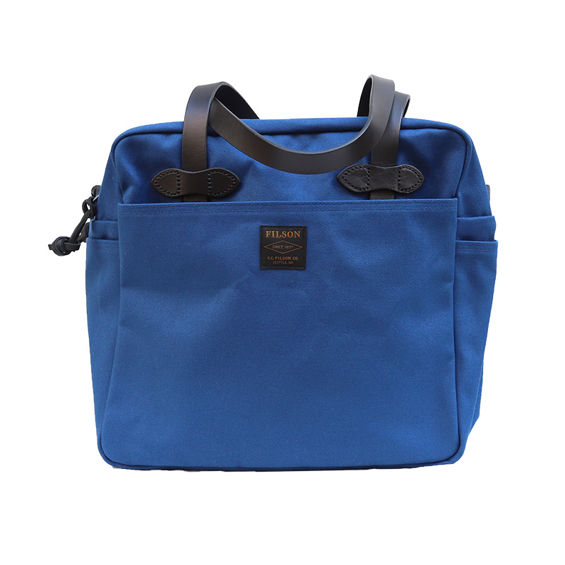 FILSON/フィルソン TOTEBAG WITH ZIPPER BLUE