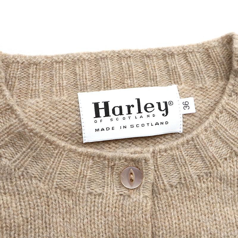 Harley of Scotland(ハーレーオブスコットランド)クルーネックカーディガン レディース HAF183002