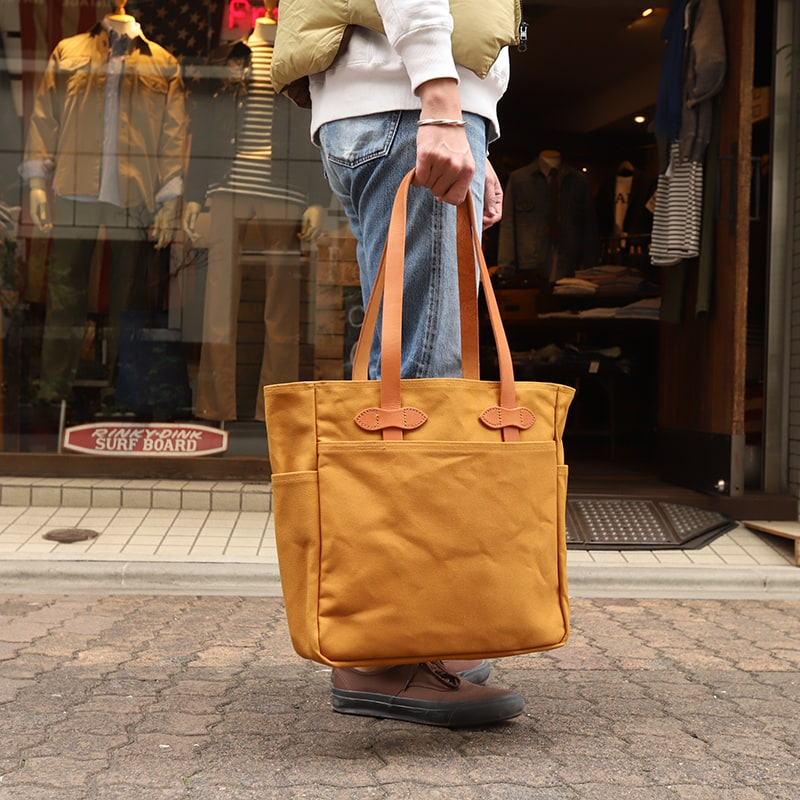 FILSON/フィルソン TOTEBAG WITHOUT ZIPPER CAMEL (オープントート)