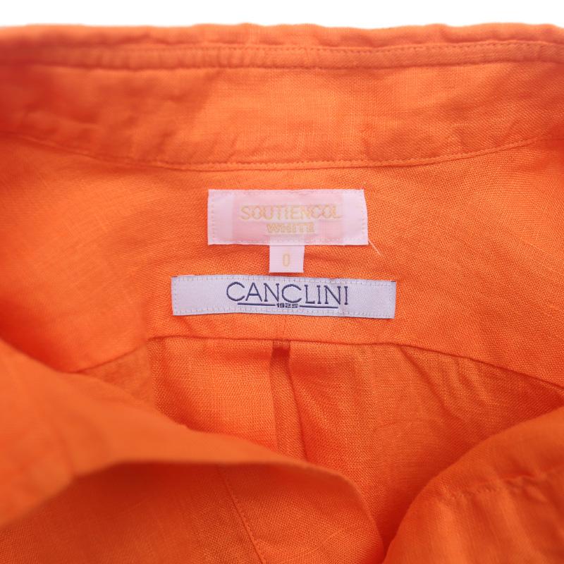 SOUTIENCOL ReMake Polo H Lady Orange CANCLINI LINEN 後染め/スティアンコル  リメイクポロ  半袖 レディース
