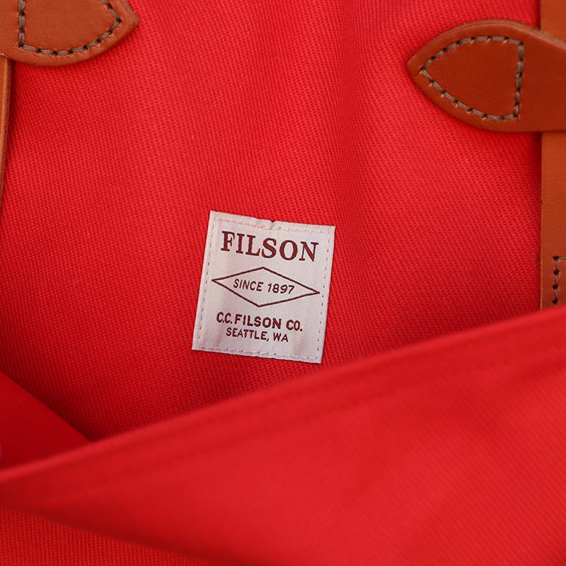 FILSON(フィルソン) ジッパー トートバッグ(レッド)