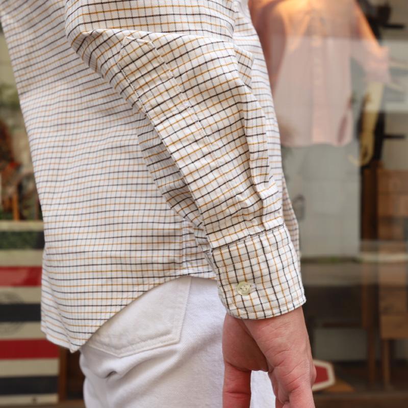 WORKERS Modified BD Shirt チェック&ストライプ/ワーカーズ ボタンダウンシャツ