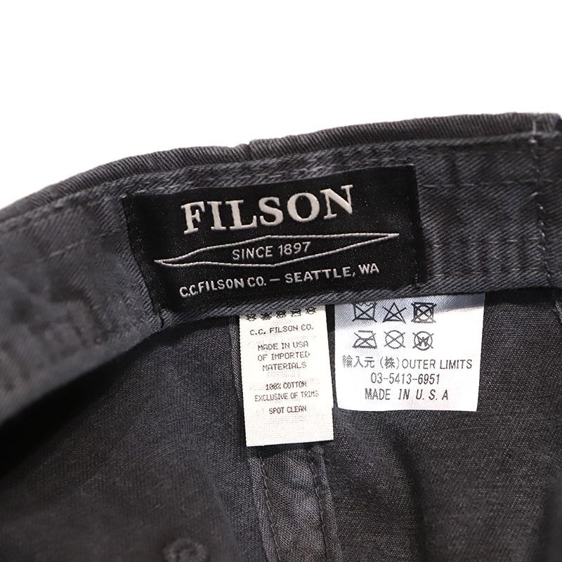 FILSON (フィルソン)WASHED LOW CAPウォッシュドキャップ