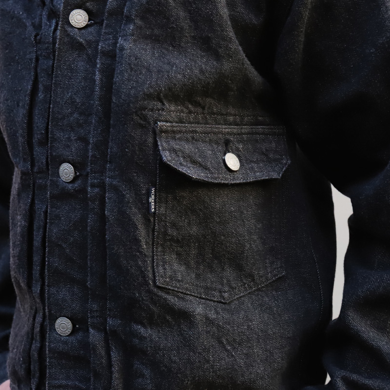 WORKERS 13.75oz Right Hand BLACK Denim Jacket 1st Model/ワーカーズ Gジャン