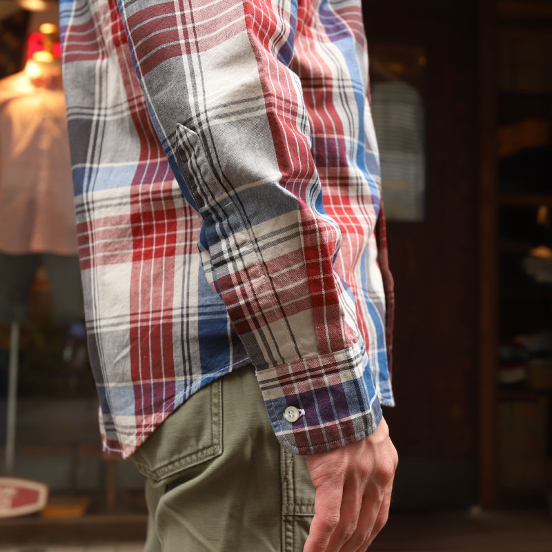 WORKERS Modified BD Shir BigPlaid/ワーカーズ ボタンダウンシャツ  大きな格子縞