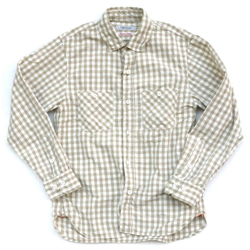 OMNIGOD(オムニゴッド) ギンガムチェックシャンブレーワークシャツIII 56-201X