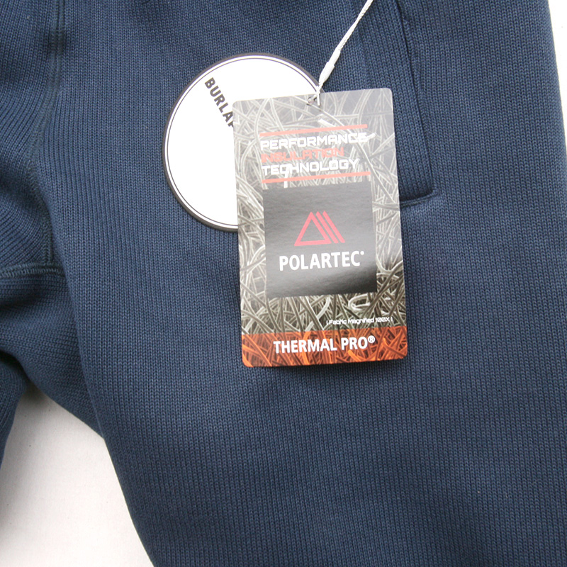 BURLAP OUTFITTER(バーラップ) ニット フリース ナローパンツ BO06002 ネイビー/チャコール