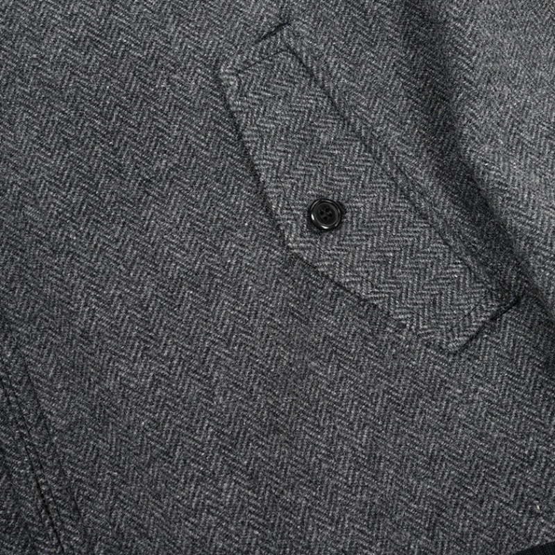 WORKERS/ワーカーズ Harrington Jacket Grey Herringbone