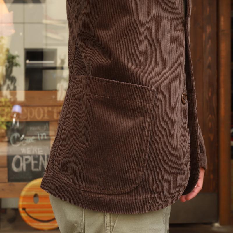 WORKERS Lounge Jacket Dark Brown Corduroy/ワーカーズ ラウンジジャケット コーデュロイ