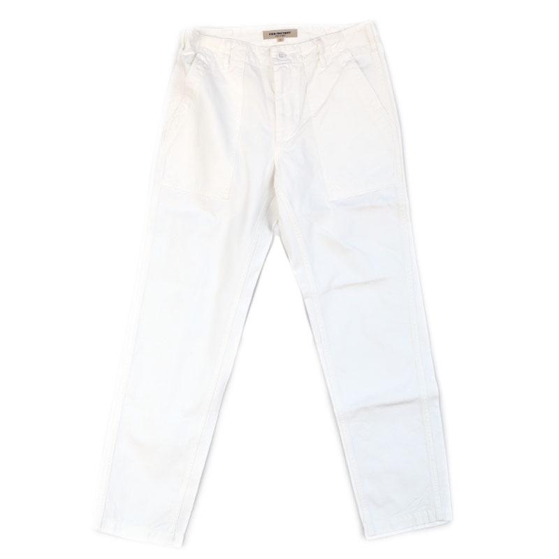 FOBファクトリー ベイカーパンツ F0431(ホワイト)