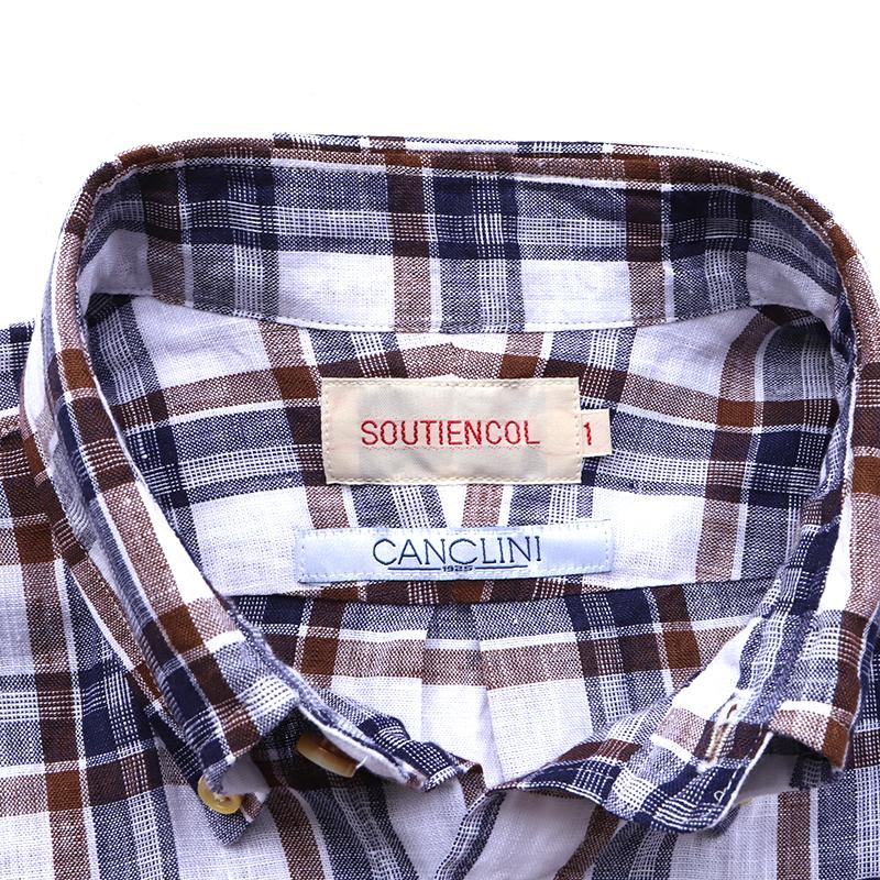 SOUTIENCOL スティアンコル プルオーバーシャツ カンクリーニリネンチェック