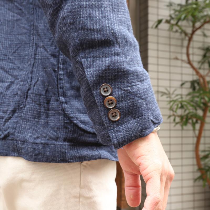 Candidum SOLBIATI LINEN 3B JACKET 三つボタン段返りジャケット