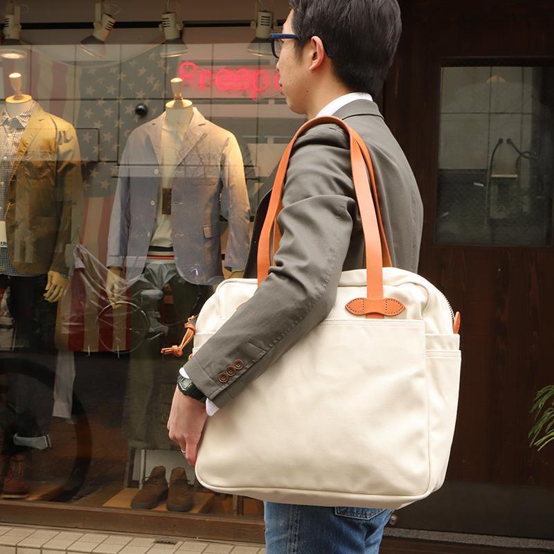 FILSON/フィルソンTOTE BAG with ZIPPER ジップトートバッグ<ホワイト>