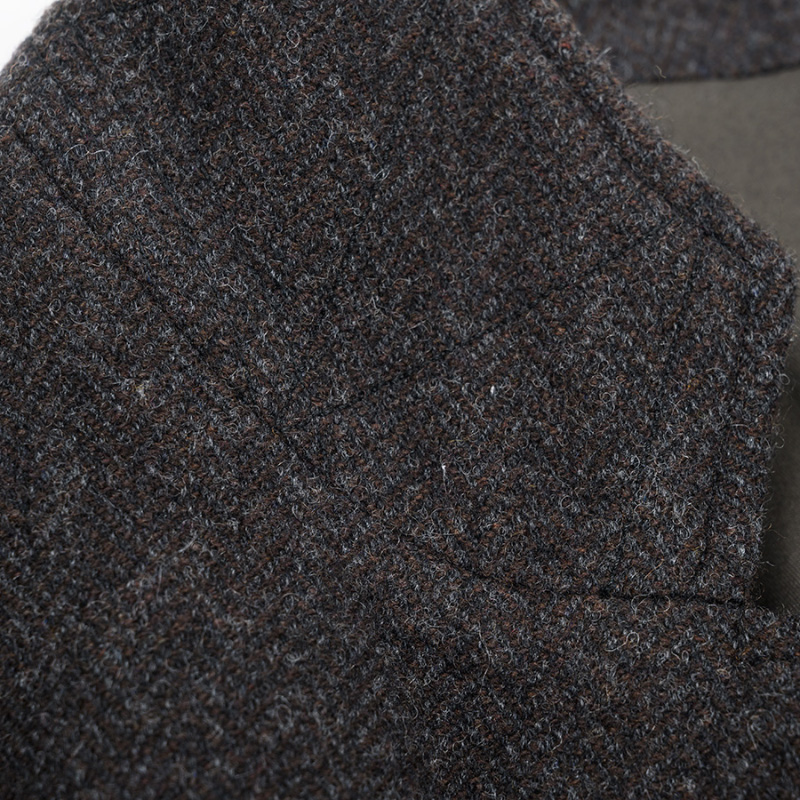 WORKERS/ワーカーズ Dark Brown Herringbone Tweed