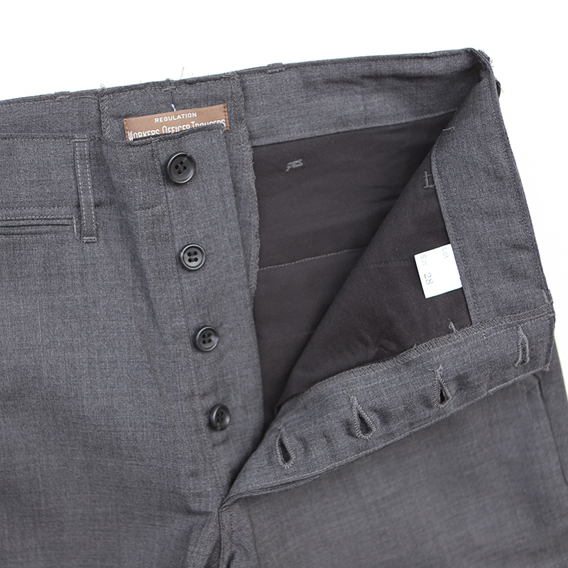 Workers  Officer Trousers,Slim-Fit,Class1 Wool Mohairオフィサートラウザー