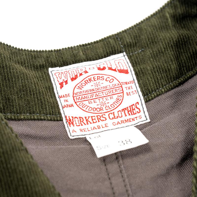 WORKERS Cruiser Vest Corduroy Olive/ワーカーズ クルーザーベスト コーデュロイオリーブ