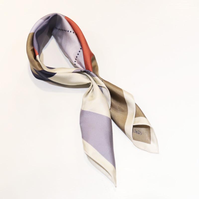 A PIECE CHIC SILKSCARF BAHAUS/ピースオブシック シルクスカーフ