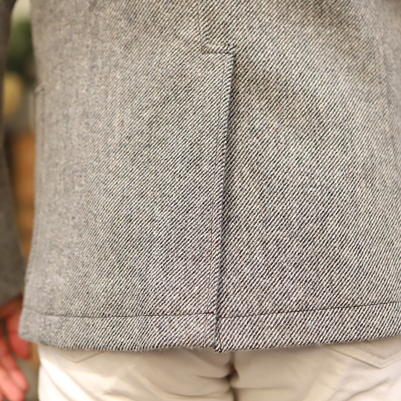 WORKERS/ワーカーズ Maple Leaf Jacket Wool Cotton Serge Grey