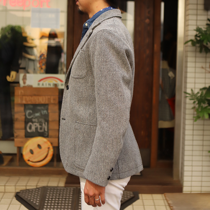 WORKERS/ワーカーズ Maple Leaf Jacket Wool Cotton Serge Grey