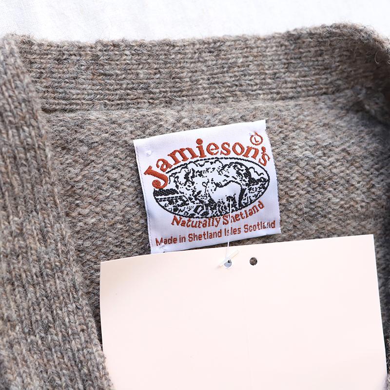 Jamieson's シェットランドセーター エルボーパッチカーディガンMK839
