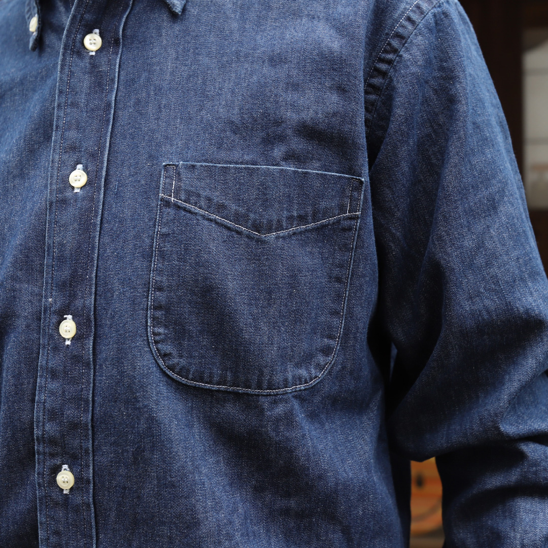 WORKERS Denim Modified BD Washed/ワーカーズ デニムボタンダウンシャツ