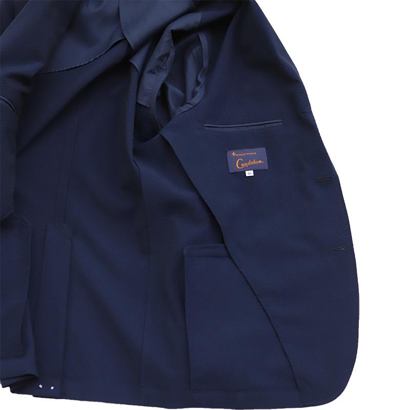 Candidum ウールシアサッカー3B 段返りジャケット c191132
