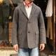WORKERS Maple Leaf Jacket Brown Psttern Tweed/ワーカーズ メイプルリーフジャケット